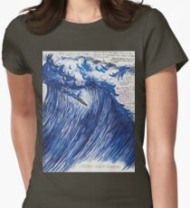 RAYMOND PETTIBON , Untitled (Going with the flow) , 2000 Womens Fitted T-Shirt