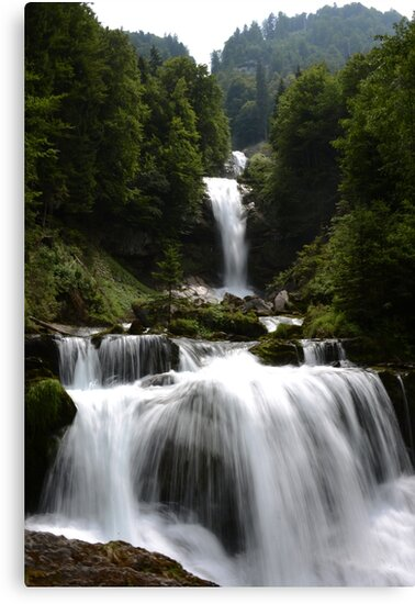 Waterfall (Giessbachfall) in Switzerland by Fanny88Sheepy86