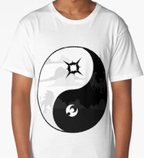 Sun and Moon Yin and Yang Long T-Shirt