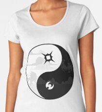 Sun and Moon Yin and Yang Women's Premium T-Shirt