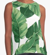 Blusa sin mangas Tropical banana leaves II