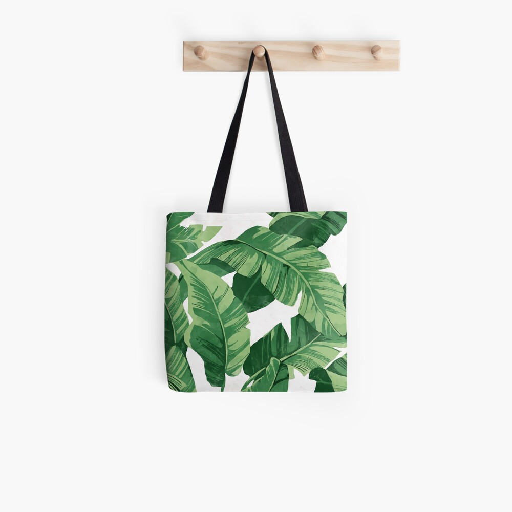 Tropical banana leaves II Tote Bag