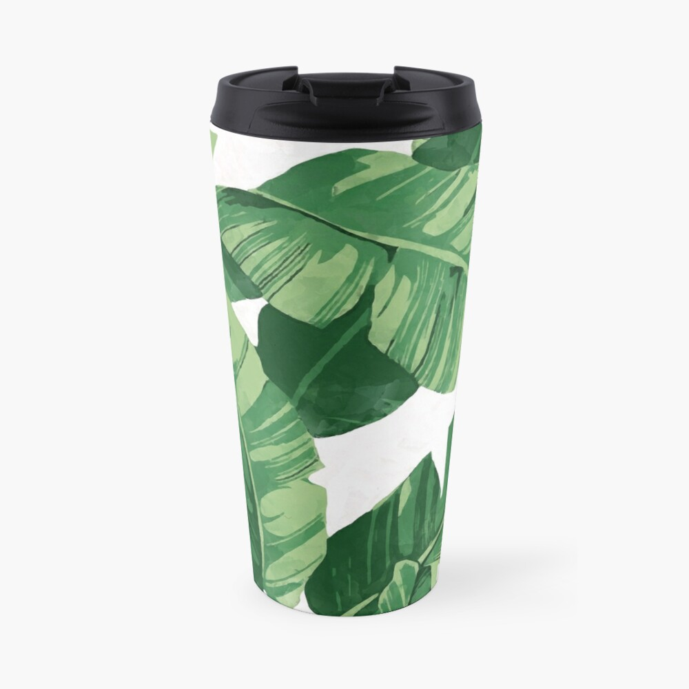 Tropical banana leaves II Travel Mug