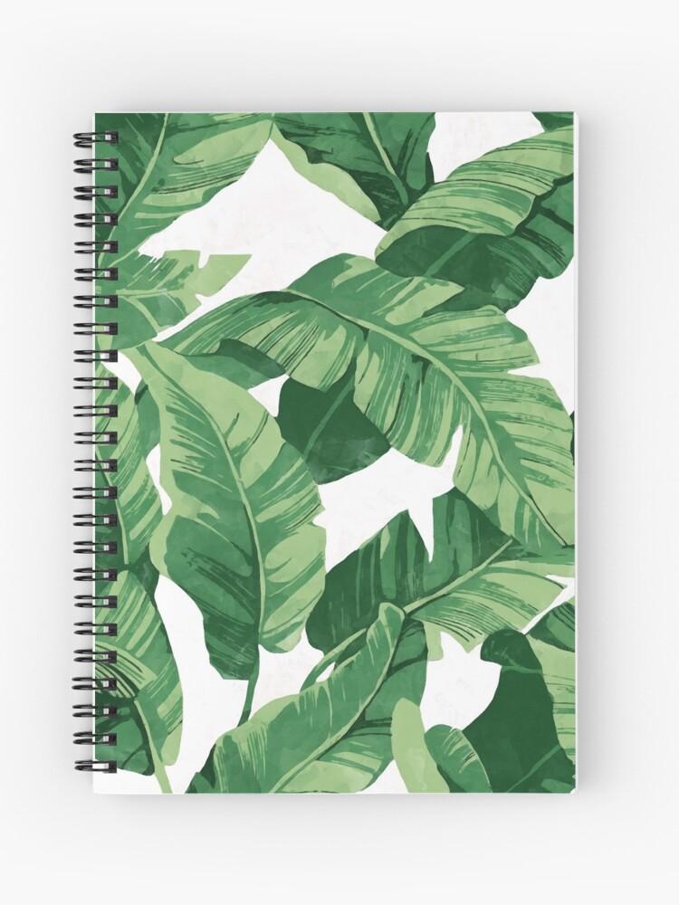95d4c4c4e931 Tropical banana leaves II | Spiral Notebook