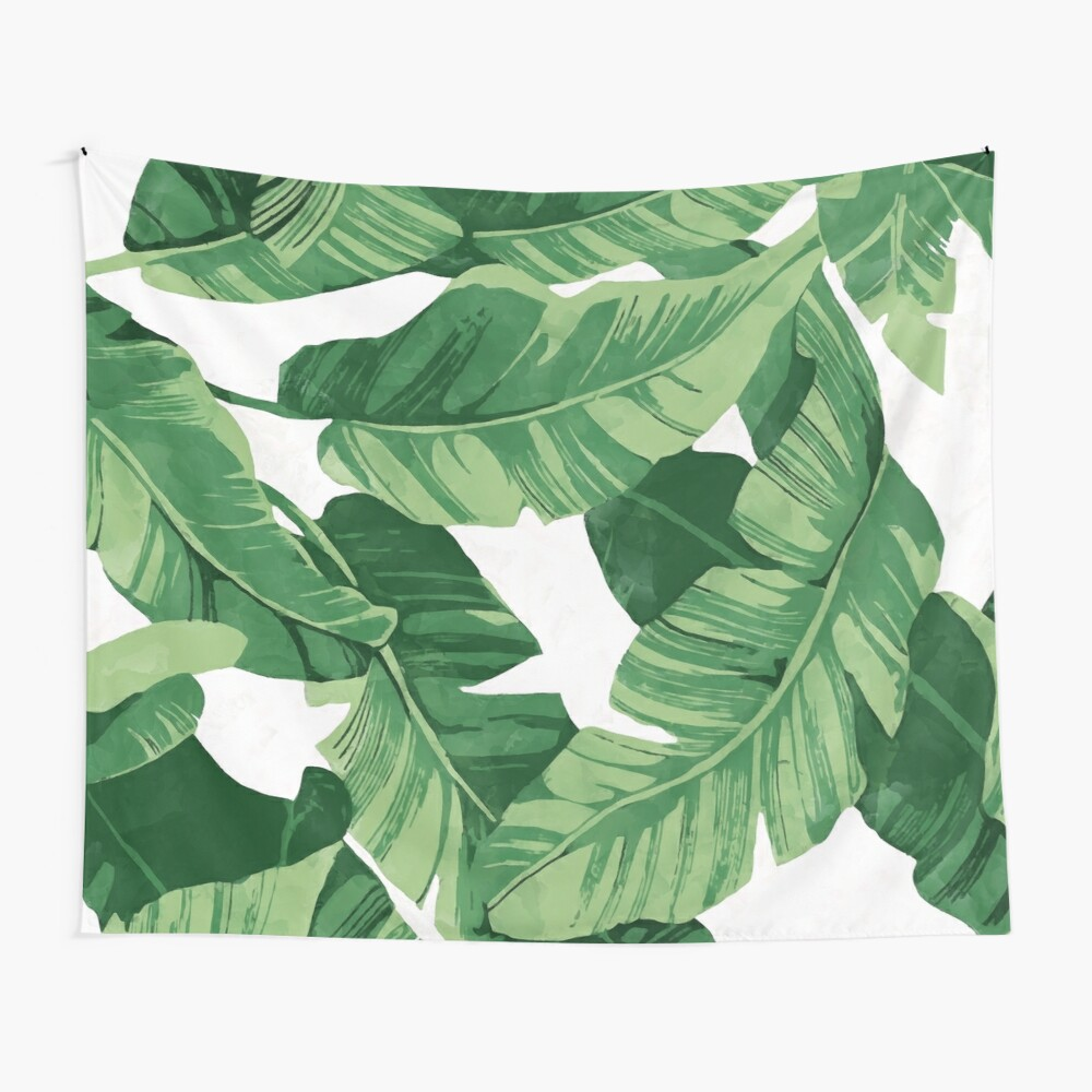 Tropical banana leaves II Wall Tapestry