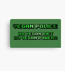 Vegan Police! Canvas Print