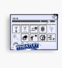 Wheatley Laboratories, Long Test Chamber Sign Canvas Print