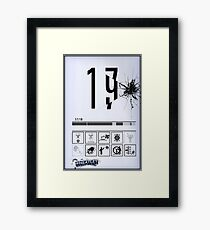 Wheatley Laboratories, Tall Test Chamber Sign Framed Print