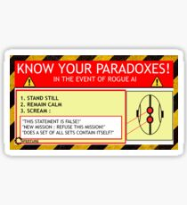 KNOW YOUR PARADOXES Sticker
