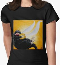 Niffler  with Golden Snitch Painting Women's Fitted T-Shirt