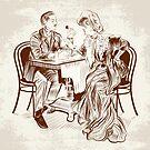 coffee and love by SVETLANA ZOLOTAREVA
