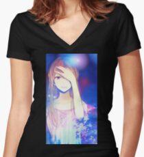 kuzu no honkai Women's Fitted V-Neck T-Shirt