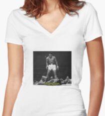 MUHAMMAD ALI Women's Fitted V-Neck T-Shirt