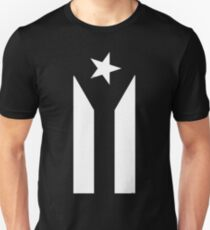 Puerto Rico Black & White Protest Flag Unisex T-Shirt