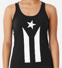 Puerto Rico Black & White Protest Flagge Racerback Tank Top