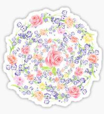 Bouquet of flowers - Marigold - BLUE Sticker