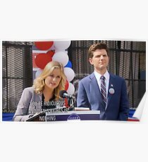 Mens Rights is Nothing- Leslie Knope Poster