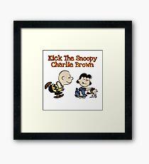 Snoopy Charlie Brown (Peanuts)  Framed Print