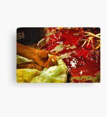raw chicken Canvas Print