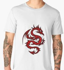 crimson dragon tribal art Men's Premium T-Shirt