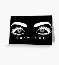 Joan Crawford's Eyes (White) Greeting Card