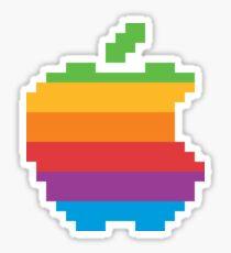 Apple Logo Retro Sticker