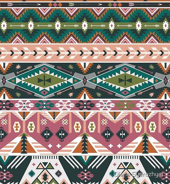National american decorative pattern by Olena Syerozhym