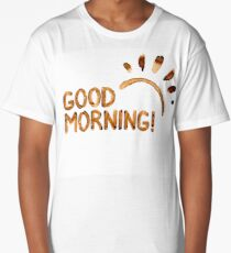 Good Morning! - Coffee Stains Long T-Shirt
