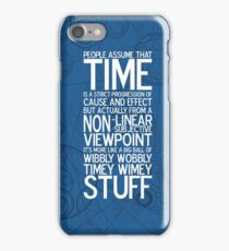 Wibbly Wobbly - Doctor Who Quote iPhone Case/Skin