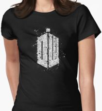 Doctor Who Splatter Womens Fitted T-Shirt