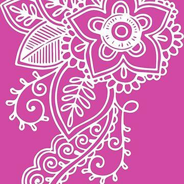 Henna Flowers - Pink by geekerymade
