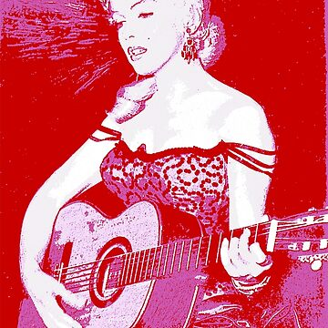 Marilyn Plays Guitar by grayagi