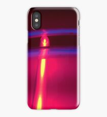 Neon Red Blue Yellow iPhone Case