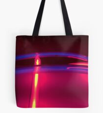 Neon Red Blue Yellow Tote Bag
