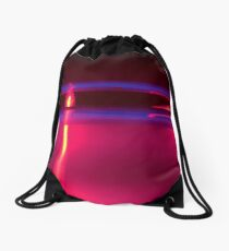 Neon Red Blue Yellow Drawstring Bag