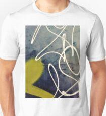 Blue and Yellow Graffiti  Unisex T-Shirt