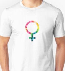 Female Gender Symbol Color Unisex T-Shirt