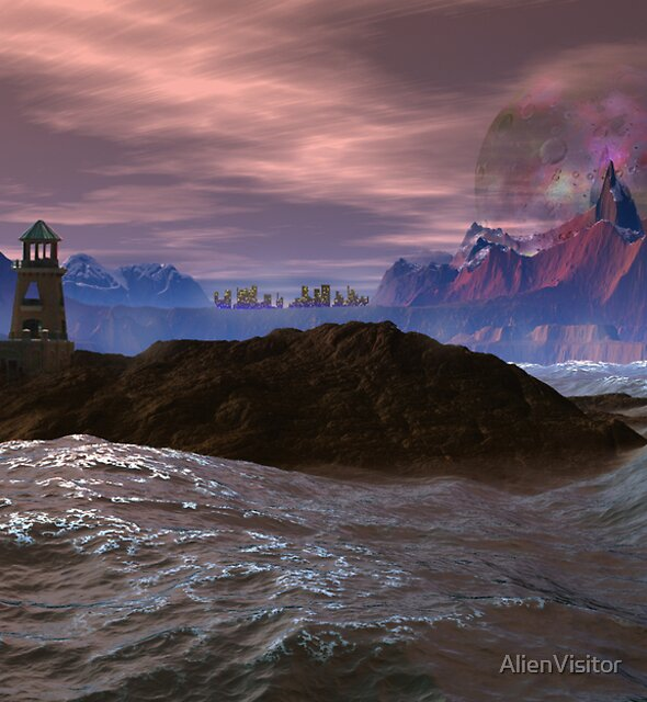 Cloned Worlds - Ambrosius Lighthouse. by AlienVisitor