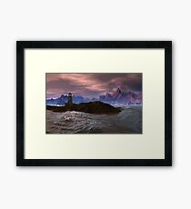 Cloned Worlds - Ambrosius Lighthouse. Framed Print