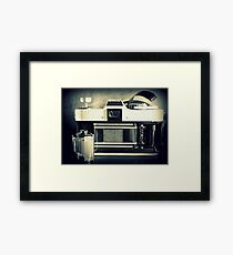 Camera And Film Framed Print