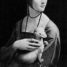 Lady With Ermine - Leonardo Da Vinci by MaritaChustak