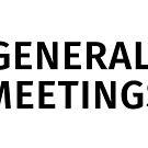 General Meetings - Black Text by BobbyMiller
