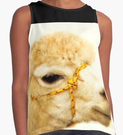 Porträt eines Alpakas Ärmelloses Top
