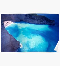 Greece. Ionian Islands. Zakynthos. The shipwreck at St George Bay. Poster