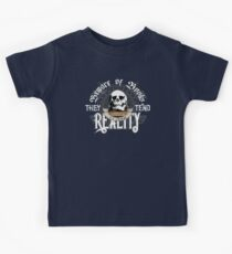 Beware Of Books They Tend To Change Reality - Cool Funny Book Lover Vintage Book Readers And Skull Fantasy T-Shirts And Gifts  Kids Tee