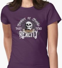 Beware Of Books They Tend To Change Reality - Cool Funny Book Lover Vintage Book Readers And Skull Fantasy T-Shirts And Gifts  Womens Fitted T-Shirt