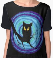 time for child stories: the EVIL OWL Women's Chiffon Top