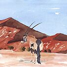 Gemsbok at Sossusvlei by Maree Clarkson
