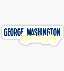 George Washington University Sticker