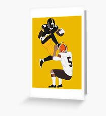 Minimalist Antonio Brown Greeting Card